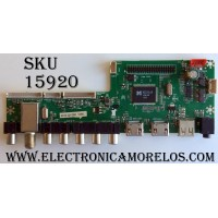 MAIN / RCA 58GE01M3393LNA55-B4 / LD.M3393.B / LG-RE01-160412-QY302 / MODELO LED58G45RQ / PANEL V-580HJ1-PE6-12V
