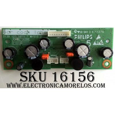 TARJETA AMPLIFICADORA DE AUDIO / PHILIPS 31391235970.2 / 313912359702 / E72376 / PANEL LC260WX2 (SL)(B2) / MODELOS US-26HF7544D/27 / 26PF5520D