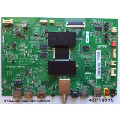MAIN / TCL 08-CS55TML-LC290AA / 40-MST10P-MAD4HG / 08-MS10P01-MA200AA / 08-MS10P01-MA300AA / V8-ST10K01-LF1V001 / GTA1700072 / MODELO 55C803TEAA / PANEL LVU550NE3L