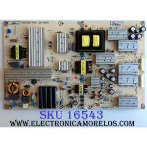 FUENTE DE PODER / INSIGNIA 98025XBI / ADTV98025XBI / 715G3906-P02-L30-003H / PANEL`S T460FBE1-KA BJ01 / T460HW04 V.4 / MODELO NS-46E570A11