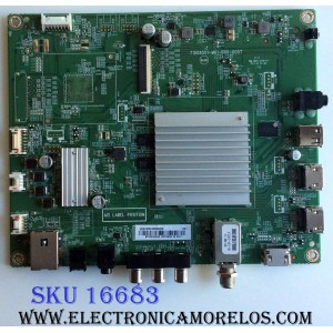MAIN / INSIGNIA 756TXHCB01K0420 / XHCB01K042 / 715G8501-M01-B00-005T / XHCB01K0420 / 756TXHCB01K042 / BPRGSIKA2 / (X)XHCB01K042010X / XHCB01K042020X / PANEL´S TPT500U1-QVN03.U REV:S7B0B / T500QVN03.7 / MODELO NS-50DR620NA18