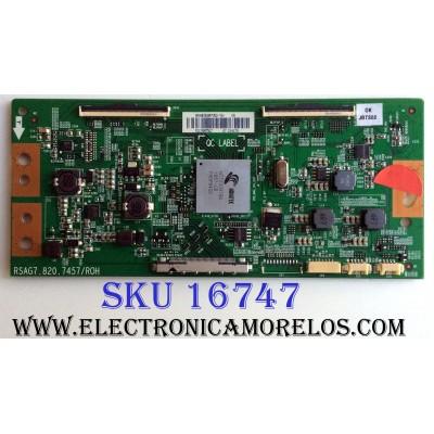 T-CON / HISENSE 214170 / RSAG7.820.7457/ROH / HS*HE500M7U52-TA / HE500M7U52-TA / PANEL HD500M3U51-TA\S1\GM\ROH / 216944 / MODELO 50H8C