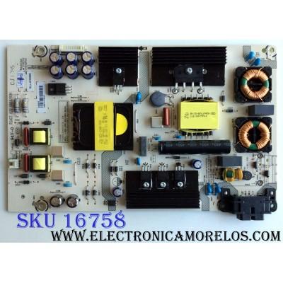 FUENTE DE PODER / HISENSE 224810 / RSAG7.820.6666/ROH / HLL-4155WE / CQC13134095636 / PANEL HD500K3U54\S8\GM\CKD\ROH / MODELOS 50H6D / FM50H6D