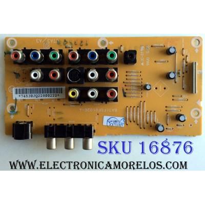 TARJETA A/V / SYLVANIA A71FDMPS / A71F0MPS / A71F0MPS-4 / BA71F0F01026-4 / BA71F0F01023-4 / PANEL UF370XC / MODELO LC320SS8