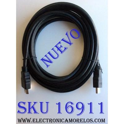 CABLE HDMI / HDMI12FT / E337566 / HD ULTRA HD DE 4K X 2K / VELOCIDAD DE TRANSFERENCIA DE DATOS: 10,2 GBIT/S / LONGITUD DEL CABLE: APROXIMADAMENTE:12 PIES / (3 METROS) / MÁXIMA RESOLUCIÓN: 3840 X 2160 PIXELES / FORMATO DE VÍDEO SOPORTADO: 1080P