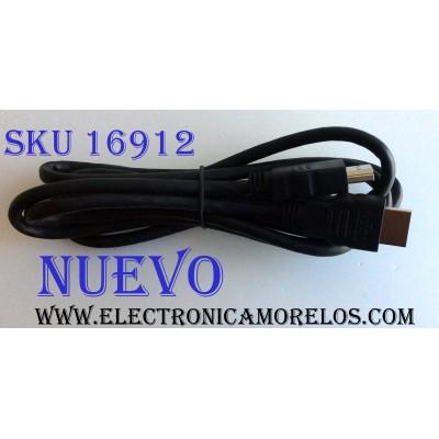 CABLE HDMI / HDMIHS6FTR1-32 / E337566 / HDMI ADMITE UNA RESOLUCIÓN:480I / 480P / 720P / 1080I / 1080P / 1600P / LONGITUD DEL CABLE:6 PIES / (2 METROS) / ADECUADO PARA SU USO EN HDTV, HOME THEATER Y APLICACIONES BASADAS EN PROYECTORES DE CLASE EMPRESARIAL