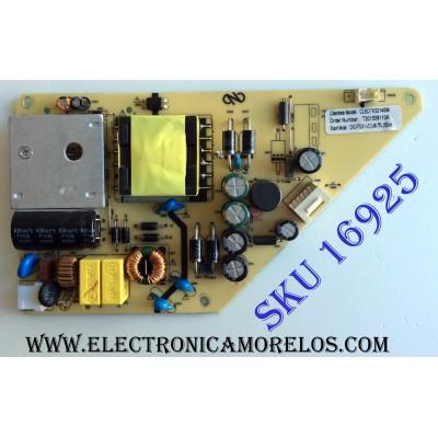FUENTE DE PODER / COBIA T201508110A / CNC-P32A1-V2.0 / 48-75V,350mA / E318724 / PANEL CNC32HD720 / MODELO CLEDTV3214SM