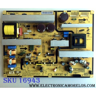 FUENTE DE PODER / SAMSUNG BN44-00186A / PSLF401501A / 1588-3366 / BN4400186A / SP55P / SU09078-XXXX / PANEL LTA520HA05-V01 / MODELO LNT5281FX/XAA SN01