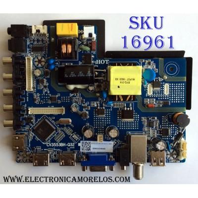MAIN / FUENTE (COMBO) / ELEMENT 50040355300460 / CV3553BH-Q32 / 076E2L01675D1 / CV3553BH_Q32_11_161028 / 7.D3553BHQ3211.2D1 / 81H005618 / PANEL PT320AT01-1 / MODELO ELEFW328