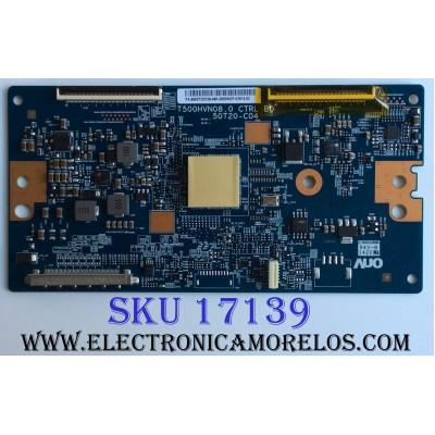 T-CON / SONY 5550T20C08 / T500HVN08.0 / 55.50T20.C08 / 50T20-C04 / PANEL T500HVF04.3 / MODELO KDL-50W700B