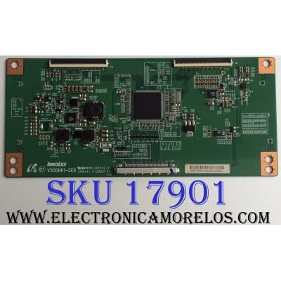 T-CON / PANASONIC 459F3B6 / V500HK1-CE6 / 459F3B6AT33 / E88441 / PANEL`S V390HK1-LE6 REV.F6 / V390HK1-LE6 / MODELO TC-39AS530U