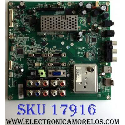MAIN / VIZIO CBPF9D1KZ5 / 715G3417-4 / E238400 / PANEL V470H2-LH2 REV.C1 / MODELO VT470M