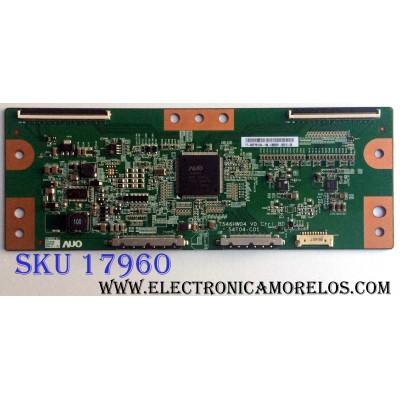 T-CON / VIZIO 55.57T01.C04 / T546HW04 V0 / 54T04-C01 / 5557T01C04 / PANEL T576DC01 V.1 / MODELOS XVT3D580CM LTMAKFAN / XVT3D580CM