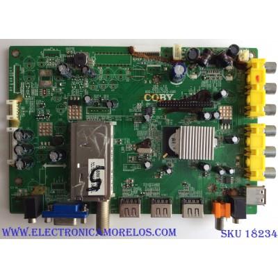MAIN / COBY 002-LT23-7612-00R VER:1.0 / 002-LT23-7612-00R / 2P04493D / PANEL V500HK1-LS5 REV.C9 / MODELO LEDTV5028