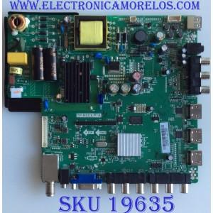 MAIN / FUENTE / (COMBO) / SCEPTRE / A13092732 / TP.RSC8.P7A / T201307059 / PANEL T320HVN01.2 / MODELO CN32HB612