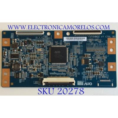 T-CON SAMSUNG / BN81-06510A / T370HW05 V7 CTRL BD / 55.46T09.C15 / 5546T09C15 / 37T07-C07 / PANEL'S T460HW08 V.7 XXXXG  / LD460CGB-A2 / MODELO UN46D6003SFXZA AN02