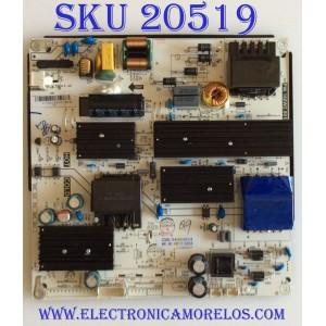FUENTE DE PODER SEIKI / A17126045 / PW.168W2.801 / 34020254 / KR17-0264 / PANEL MD5548YTSU / MODELO SC-55UK700N