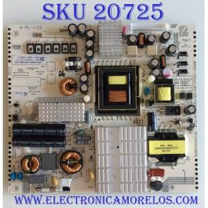 FUENTE DE PODER W BOX / PMH3-173HQ308-000175 / 82NE0044C-E / KTC-4702-2PLL03-A6131D01-200W / K-PL-L03 / PANEL K490WD9 / MODELO 0E-49LED4K
