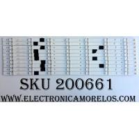 KIT DE LED PARA TV / SVH550AQ0_REV00_RJW1_7LEDX10_161108 / PC64438 / S0328Z