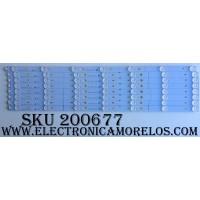 """KIT DE LED PARA TV / TCL 006-P1K3465A / YHF-4C-LB3207-YH02J / TOT_55D2700_UD_8X7_3030C_V1 / 140117-SA7XFA-028""""52""""(53,54,55,56,57,58,59.) / MODELO 55US57 / PANEL LVU550CSOT E1"""