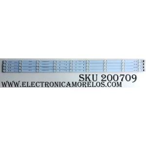 KIT DE LED`S PARA TV (4 PIEZAS) / WESTINGHOSE A-CNBW40D598 / L2LV1-3050FF14H / 21003701 / 4640CL090 / PANEL´S LSC400HN02-G02 / LSC400HN02-G01 / MODELOS ELEFT406 J6G5M / K6G5M / D6G5M / E6G5M / ELEFW408 G5G5M / PLE-4004FHD / WD40FX1170 TW-02101-S040V