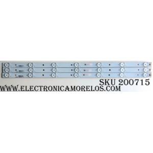 KIT DE LED PARA TV (3 PIEZAS) / VIZIO 007-0140212 / 60M5FAD3A / LBM280P0701-I-3 / MODELOS E280I-B1 LTT3PRCQ / E280I-B1 LTT3PREQ / E280-B1 LTT3PRBQ / E280-A1 LTT3PRDQ / E280I-A1 LTT3PRAQ