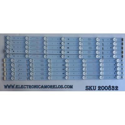 KIT DE LED PARA TV / PIXEL 303CX500034/303CX500033 / 303CX500034 / 303CX500033 / ZDCX50D14R-ZC14F-02 / ZDCX50D14L-ZC14F-02 / MODELO LE-5029 / PANEL CX500DLEDM