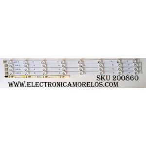 KIT DE LED`S PARA TV (4 PIEZAS) / SAMSUNG BN96-21475A / 32H-3535LED-32EA / D1GE-320SC0-R2[11, 10, 26] / BN41-01823A / BN96-21485A / SUSTITUTAS DE320AGE-V2 / DE320AGH-C1 / DE320AGM-C2 / PANEL DE320AGM-C1 CC01 / MODELO UN32EH4000FXZA CS01