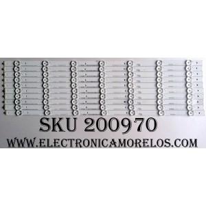 KIT DE LED PARA TV / 1157014(10 PZAS.) / HE55PDBcQ96 / HISENSE_55_HD550DU-B52_10X7_3030C_V0_20151012 / 145MA042R-B1 / GS-AL194V-0