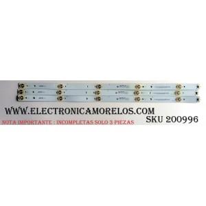 """KIT DE LED """"INCOMPLETOS PRECAUCION SOLO SON (""""3 PZAS.) IMPORTANTE """" / VIZIO 0171-1971-0411 / JL550I-A0 / 098101101117 / PANEL T550HVN01.3 / MODELOS E550I-A0 LAQAOQAP / E550I-A0 LAQAOQCQ / E550I-A0 LAQKOQBP / E550I-A0 LATAOQAP"""