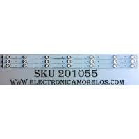 KIT DE LED´S PARA TV (3 PIEZAS) / HISENSE 1136775 / 129MA041R-B1 / Hisense_32_HD315DH-B51_3x7_3030C_7S1P / HE32TKAxJ7638 / PANEL HD315DH-B12(010)\XP\S2\GM\ROH / MODELO 32H4C