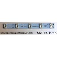 KIT DE LED´S PARA TV (2 PIEZAS) / ELEMENT B-HWBW19D739 / 21004618 / 4619DX001 / M105-A3-J / E466169 / M105-A3-J-4147GA29F103202 / M105-A3-J-4147GA29F103204 / PANEL MV185WHB-N10 / MODELO ELEFW195 / LE-19GDXB-B2