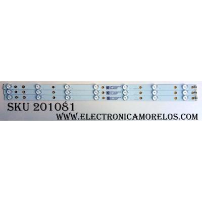 KIT DE LED´S PARA TV (3 PIEZAS) / VIZIO LBM320P0701-LC-1(3) / 140M4UP40SCF / 7361 0302096 / 210BZ07D043030C18E / PANEL´S TPT315B5-FHBN0.K REV:S49P2Y / HV320FHB-N00 / MODELO D32F-E1 LTTUVMMT