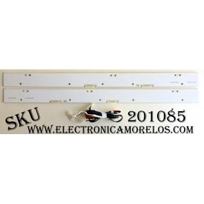 KIT DE LED´S PARA TV (2 PIEZAS) / SAMSUNG BN96-31033A / BN96-31034A / 087 DK 30188S E8L057 31034A / 087 DK 30403S E8K057 31033A / PANEL CY-VH055FSLV1H FW44 / MODELO UN55HU9000FXZA TS01