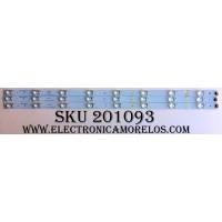 KIT DE LED`S PARA TV (3 PIEZAS) / RCA LK315T3HB87-12V / 01.JL.D3281235-31CS / L96M32 D140619 / MODELO LED32G30RQ