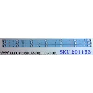 KIT DE LED`S PARA TV (3 PIEZAS) / ELEMENT GC315D07-ZC14F-06 / 303GC315034 / 201004961 / 150129A4 / 2447620180T / PANEL BOEI320WX1 / MODELO ELEFW328