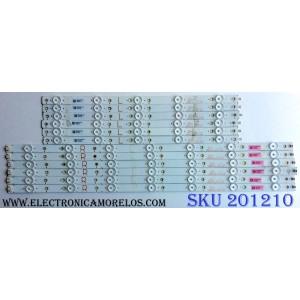 KIT DE LED´S PARA TV (12 PIEZAS) / SONY SVV500A70_12LED_L_REV01_170904 / SVV500A70_12LED_R_REV01_170904 / T280Z4AY33BJ / PANEL TPT500U1-QVN03.U REV:S7B0E / MODELO KD-50X690E