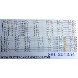 KIT DE LED´S PARA TV (14 PIEZAS) / INSIGNIA LB-PF3030-GJD2P6557X14AJG2-L-H / LB-PF3030-GJD2P6557X14AJG2-R-H / L4T47V6ZBR00 / 210BZ07DL4334DM00X / 55AJG2-L / 55AJG2-R / PANEL TPT550U1-QVN05.U / MODELO NS-55DR620NA18