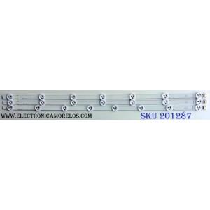 KIT DE LED´S PARA TV (3 PIEZAS) / LG 32¨ ROW2.1 Rev 0.9 1 A1-Type 6916L-1105A / 32¨ ROW2.1 Rev 0.9 1 A2-Type 6916L-1106A / PANEL´S LC320DXE (JF)(R2) / LC320DXE (SF)(R1) / MODELOS E320-A0 LAEKNLGP / E320I-A0 LAEKNLHP / E320I-A0 / 32LN530B-UA / 32LN530B-UA