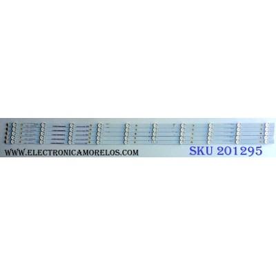 KIT DE LED´S PARA TV (5 PIEZAS) / HISENSE 1180118 / 15ma031RR-B1 / HE50QYJKE67 / Hisense_50_HD500M3U51-TA_5x10_3030C_552P / PANEL HD500M3U51-TA\S1\GM\ROH / 216944  / MODELO 50H8C