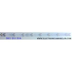 KIT DE LED´S PARA TV (3 PIEZAS) / SAMSUNG 303GC430043 / GC43D08-ZC22AG / E469119 / 2010035711-12 / 171115A2 / 344761000135000 / GC430M10 / PANEL´S BOEI430WU1 4A17B27 / HV430FHB-N1A / MODELOS UN43J5202AFXZA BZ01 / UN43M5300AFXZA BB02 / UN43J5200AFXZA