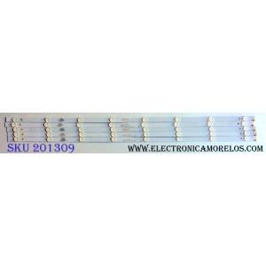KIT DE LED´S PARA TV (5 PIEZAS) / VIZIO 303GC430037 / GC43D08-ZC21AG-09 / E469119 / GC430M07 / C3HA21 / 2010033385-2 / 170927B9 / 344761000114000 / PANEL BOEI430WU1 8N17A09 / MODELO D43n-E4 LHBFVNKT