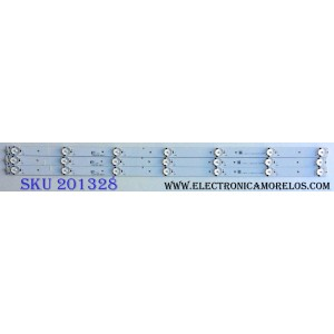 KIT DE LED´S PARA TV (3 PIEZAS) / HISENSE JL.D3271330-03DS-F / 1146380 / E331251 / 1146380 C 13BH3133B1 D160906 / PANEL JHD315-DH-E81 / MODELO 32H3B1