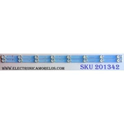 KIT DE LED´S PARA TV (2 PIEZAS) / COBIA CRH-K323535T020857L-Rev1.0 LKT / CRH-K323535T020857L / A8L06H51PAA1599K / E199273 / PFR-4 / PANEL CNC32HD720 / MODELO CLEDTV3214SM