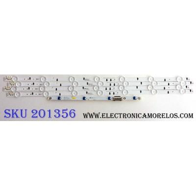 KIT DE LED´S PARA TV (4 PIEZAS) / SAMSUNG 30442A / SAMSUNG_2014SVS32FHD_3228_07_REV1.1_131108 / LM41-00099L / CEM-3-N 002SC 31 / PANEL GJ032BGE-R2 RR01 / MODELO UN32J5500AFXZA XC43