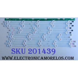 KIT DE LED´S PARA TV (12 PIEZAS) / LG AGF78400801 / AGF78240801 / 035S4B / 6637L-0024A / PPW-NL47GC(A) / 6916L-1259A / 6916L-1260A / 6916L-1261A / 6916L-1262A / PANEL SUSTITUTO LC470DUE (SF)(R1) / PANEL LC470DUE (SF)(U1) / MODELO 47LA6200-UA BUSYLJR