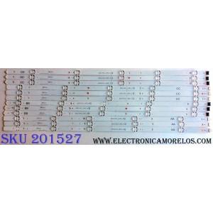 KIT DE LED´S PARA TV (12 PIEZAS) / LG EAV63673007 / 65UJ63_UHD_A / 65UJ63_UHD_B / 65UJ63_UHD_C / 65UJ63_UHD_D EAV64054301 / EAV64054501 / EAV643994201 / EAV64054401 / SSC_65UJ63 / 170720 / PANEL NC650DGE-AAFX7 / MODELOS 65UJ6300-UA / 65UJ6300-UA BUSYLOR