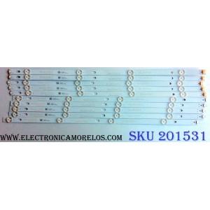 KIT DE LED´S PARA TV (10 PIEZAS) / LG 55UJ63_UHD_A / 55LJ63_FHD_B / HL-99550A30-0401A-01 / HL-99550A30-0401B-01 / E469119 / 55UJ63/55LU55 / 170519 / HONGLI_55UJ63/55LU55_A_REV0.1_170519 / PANEL NC550DGG-AAFX7 / MODELOS 55UJ6300-UA / 55UJ6300-UA.BUS2LOR