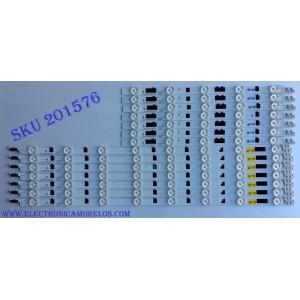 KIT DE LED'S PARA TV (14 PIEZAS) / SAMSUNG D2GE-400SCA-R3 / D2GE-400SCB-R3 / 25304A / 25305A / 25520A / 25521A / BN41-01970A / 2013SVS40F / 130212 / PANEL CY-HF400BGLV1H / MODELOS UE40F6740 / UA40F5300 / UN40F6400 / HG40AB670 MAS MODELOS EN DESCRIPCION