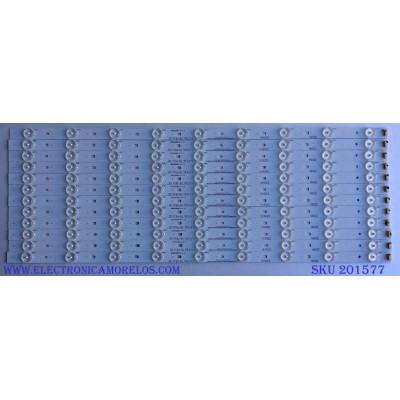 KIT DE LED PARA TV / RCA ( 12 PIEZAS ) T550HVN03.0-12V / IC-A-KJAB55D355 / X-3076-I44-NA / MODELO LED55C55R120Q
